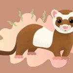 Illustration of a smelly ferret