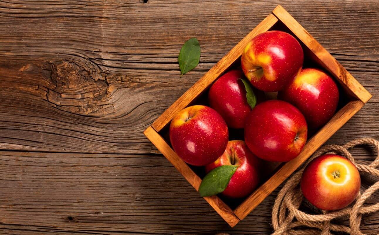 Crate full of apple