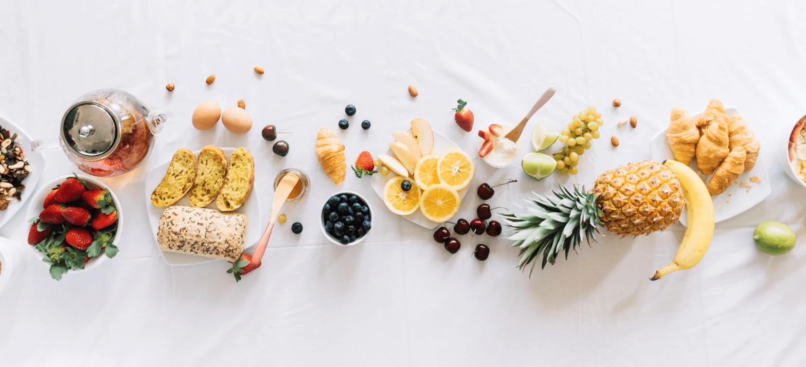 bunch of healthy foods